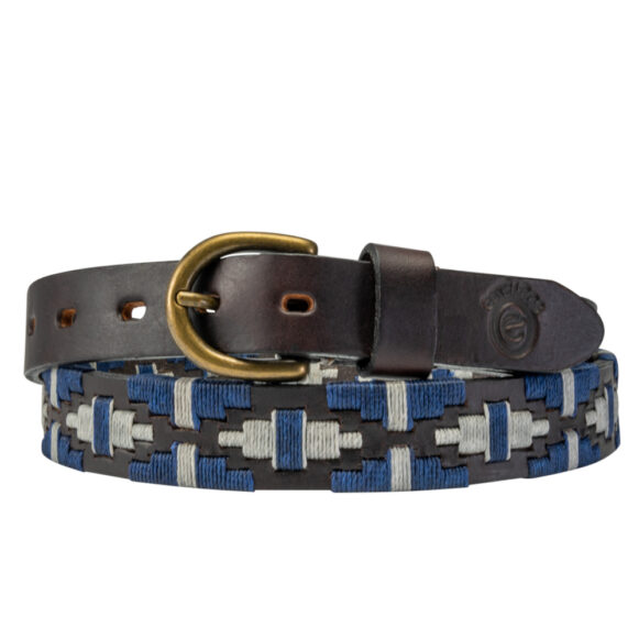 Skinny Polo Belt from Argentina - Acero