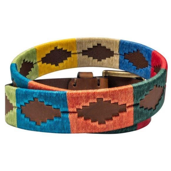 Polo Belt from Argentina - Rainbow Gaucho Belt
