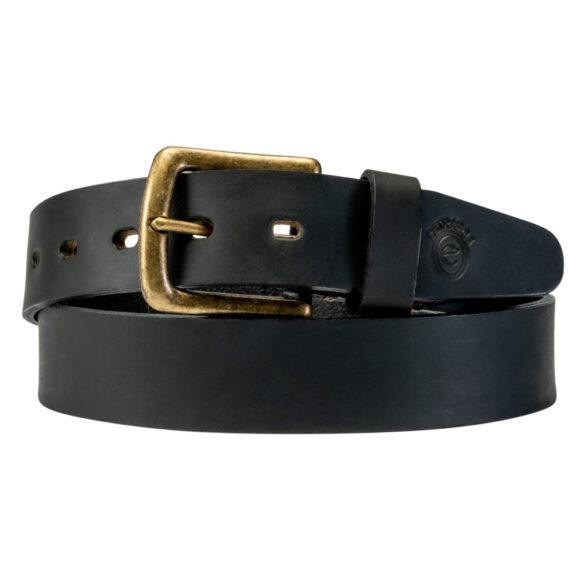 Black Leather Belt from Argentina - Plain Brown detail