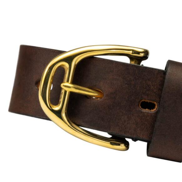 Brass Stirrup Belt Buckle 25mm 35mm