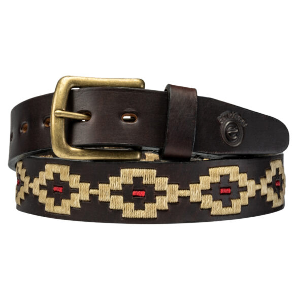 Pampa polo belt in cream handmade in Argentina by Estribos