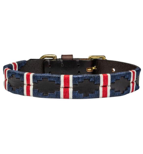 British Team polo dog collar handmade in Argentina by Estribos