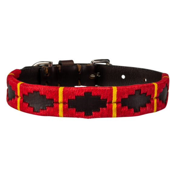 Ibérico polo dog collar handmade in Argentina by Estribos