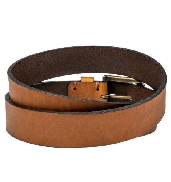 Estribos Stirrup Leather Belt – Tobacco Plain