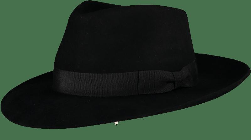 Black 'Ha' Fur Felt Hat - Home of the Original Estribos ...
