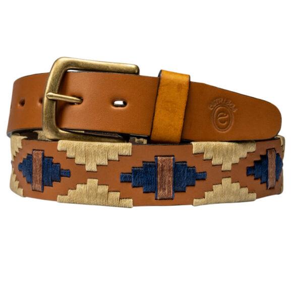 Men's Polo Belt - Greek Key Pattern - Gaucho Belt