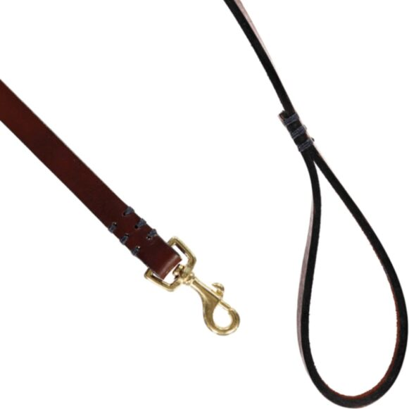 Polo Dog Lead | British Solid Brass | Argentinian Leather